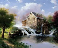 prints for thomas kinkade evening paintings for bedrooms canvas decoration pictures the wall monroe canvas in painting calligraphy from