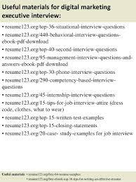 Sample Marketing Executive Resume Useful Materials For Digital