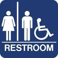Handicap Bathroom Signs Stunning Lynch Sign 448 In X 448 In Blue Plastic With Braille Restroom