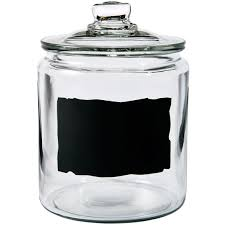 anchor hocking heritage hill 1 2 gal chalkboard jar