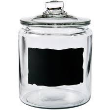 anchor hocking heritage hill 1 2 gal chalkboard jar