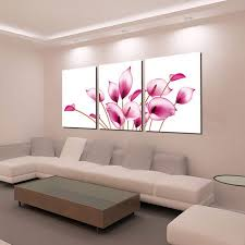 bizhen pink flowers painting canvas wall art pictures pink 3pcs  on canvas wall art pink flowers with bizhen pink flowers painting canvas wall art pictures pink 3pcs