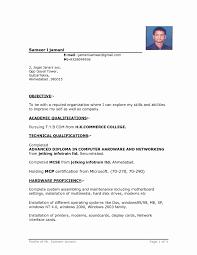 Download Fresher Resume Format Beautiful Transform Resume Format