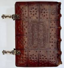 bookbinding northern netherlands contents book of hours leiden 1497 or shortly before beautiful leather used and decorated for covers and claps to