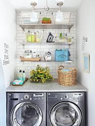 beautifully organized small laundry rooms