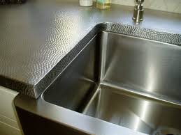 stainless steel countertops hammered finish farmhouse stainless sink