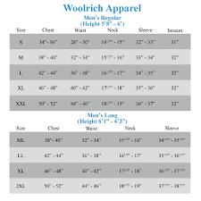 Woolrich Coat Size Chart