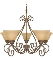 nuvo 60 1023 castillo 5 light 28 inch sonoma bronze chandelier