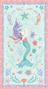 Mermaid Dreams 24 by 44-inch Mermaid Quilt Fabric Panel Style ... & Mermaid Dreams 24 by 44-inch Mermaid Quilt Fabric Panel Style 3750P/66 Adamdwight.com
