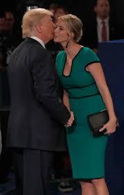 Ivanka Trump Second Presidential Debate Emerald Green Knee