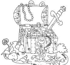 Piraten Schat Kleurplaat Piraten Piraten Piraten Schatkist Et