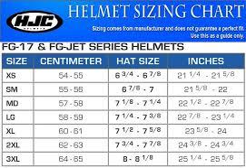 Hjc Full Face Helmet Size Chart Best Picture Of Chart