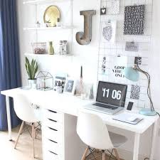 home office items. Gorgeous Home Office Idea - Love This Workspace With The White Desk, 2 Items