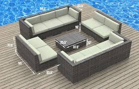 image modern wicker patio furniture. Amazon.com: UrbanFurnishing.net 11a-burmuda-biege 11 Piece Modern Patio Furniture Sofa Sectional Couch Set: Garden \u0026 Outdoor Image Wicker