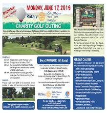 Golf Outing Flyer Rotary Club Of Madison West Towne Middleton