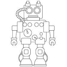 With today's advanced technology, you can get your child get the preschool education on the internet. Robot Coloring Page Babadoodle
