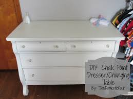chalk paint furniture diyDIY Chalk Paint DresserChanging Table  The Domestic Four