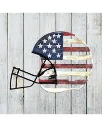exhart patriotic metal grey football helmet wall art outdoor d cor on patriotic outdoor wall art with here s a great price on exhart patriotic metal grey football