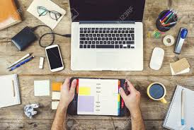 ... Awesome Creative Office Desk Accessories Creative Desk Stock Photo  Office Furniture: Full Size