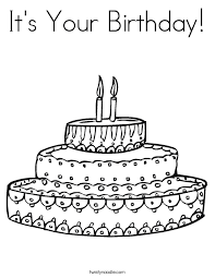 Small Picture Draw the birthday candles Coloring Page Twisty Noodle