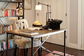 chic and stylish office table design of noe valley home by lauren geremia san francisco chic office interior design