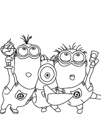 Small Picture Despicable Me Coloring Pages Minions For Kids Cartoon Coloring