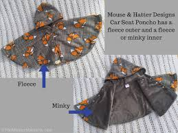 mouse hatter designs car seat poncho review