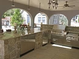 Kitchen Room  Modern Outdoor Kitchens Brick Floor Marble - Modern outdoor kitchens