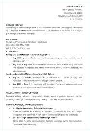 Grad School Resume Template Lovely Scholarship Resume Samples High