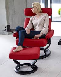 Stressless Taurus Recliner with Ottoman Clearance
