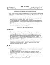 Social Media Marketing Professional Resume Sample Vinodomia
