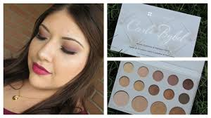 carli bybel bh cosmetics palette first impressions demo giveaway you
