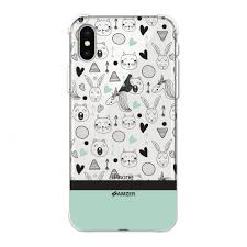 Amzer Designer Case Amzer Designer Slim Tpu X Protection Soft Gel Case Protective Back Cover Skin For Apple Iphone Xs Max Unicorns Clear