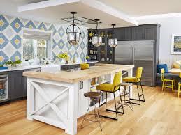 Antique White Kitchen Island Glazed Antique White Kitchen Island With Wood Countertop And Gray