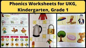 Phonics worksheets to support your child's learning and help them prepare for the year 1 phonics screening check. Phonics Worksheets For Ukg Kindergarten Grade 1 Best Phonics Workbook For 4 6 Years Kids Youtube