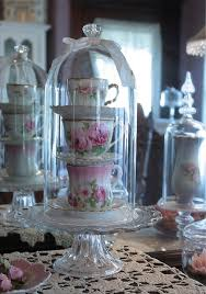 Teacup Display Stand Stack Tea Cups Saucers Under Cloche I Can See This On MLI's 60