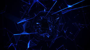 Background Black And Blue Abstract Growing Network Connections Black Stock Footage Video 100