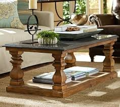 pottery barn glass coffee table round