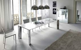 white modern dining room sets. Dining Room:Amazing Rectangle Glass Modern Room Sets Design Ideas With Grey Fluffy White