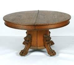 oak pedestal tables antique solid oak dining table amazing great antique oak round pedestal table with