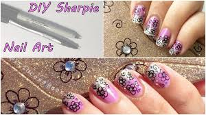 DIY Sharpie Pen Nail Art Tutorial - YouTube