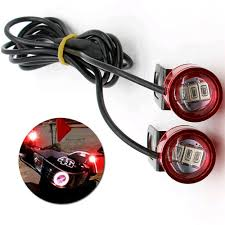 Motorcycle Strobe Lights Details About 2pcs Dc 12v Motorcycle Rearview Mirror Eagle Eye 3 Led Flash Strobe Lights Red