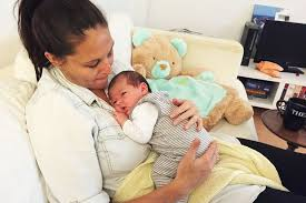 New mum Josie Sargent cradles her weeks-old son at home - ABC News ...