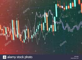 Abstract Glowing Forex Chart Interface Wallpaper Investment