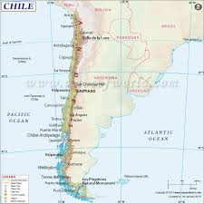 chile map  map of chile