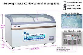 Tủ đông Alaska KC-500 mặt kính cong 600 lít - Giá rẻ nhất nhất T9/2021