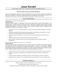 Recovery Officer Resume Examples Debt Collection Sample Bunch Ideas