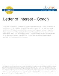 Ideas Of Example Of Letter Intent For Coaching Position Gymnastics