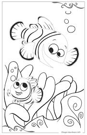Alla Ricerca Di Nemo Scaricare Gratis Disegni Da Colorare Per Bambini