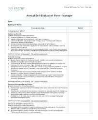 Job Performance Evaluation Self Appraisal Examples For Managers ...